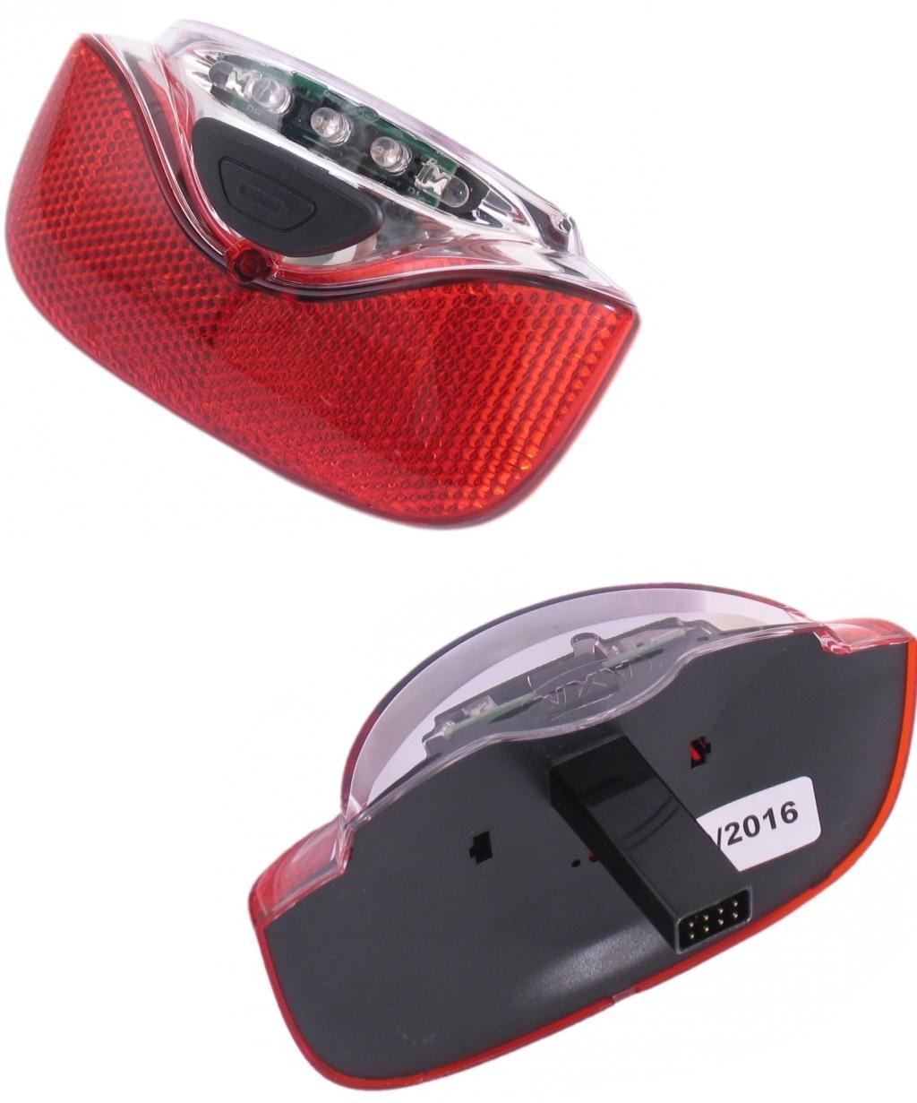 Gazelle achterlicht Innergy led E bike 115 mm rood-transparant