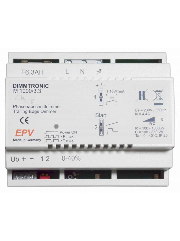 DIMMTRONIC M1000/3.3 Phasenabschnittdimmer zur Tasterbedienung oder 1-10V