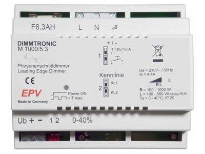 EPV DIMMTRONIC M1000/5.3 Phasenanschnittdimmer zum Tast- oder 1-10V / 0-10V Betrieb