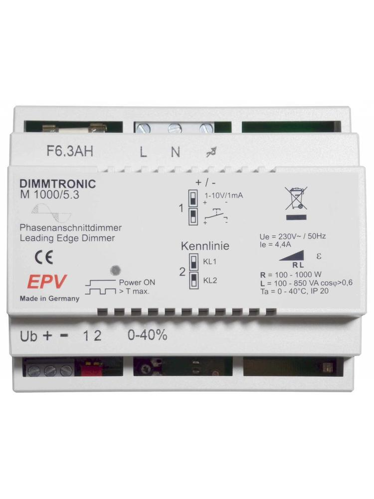 DIMMTRONIC M1000/5.3 Leading-edge DIN rail dimmer with 1-10V input