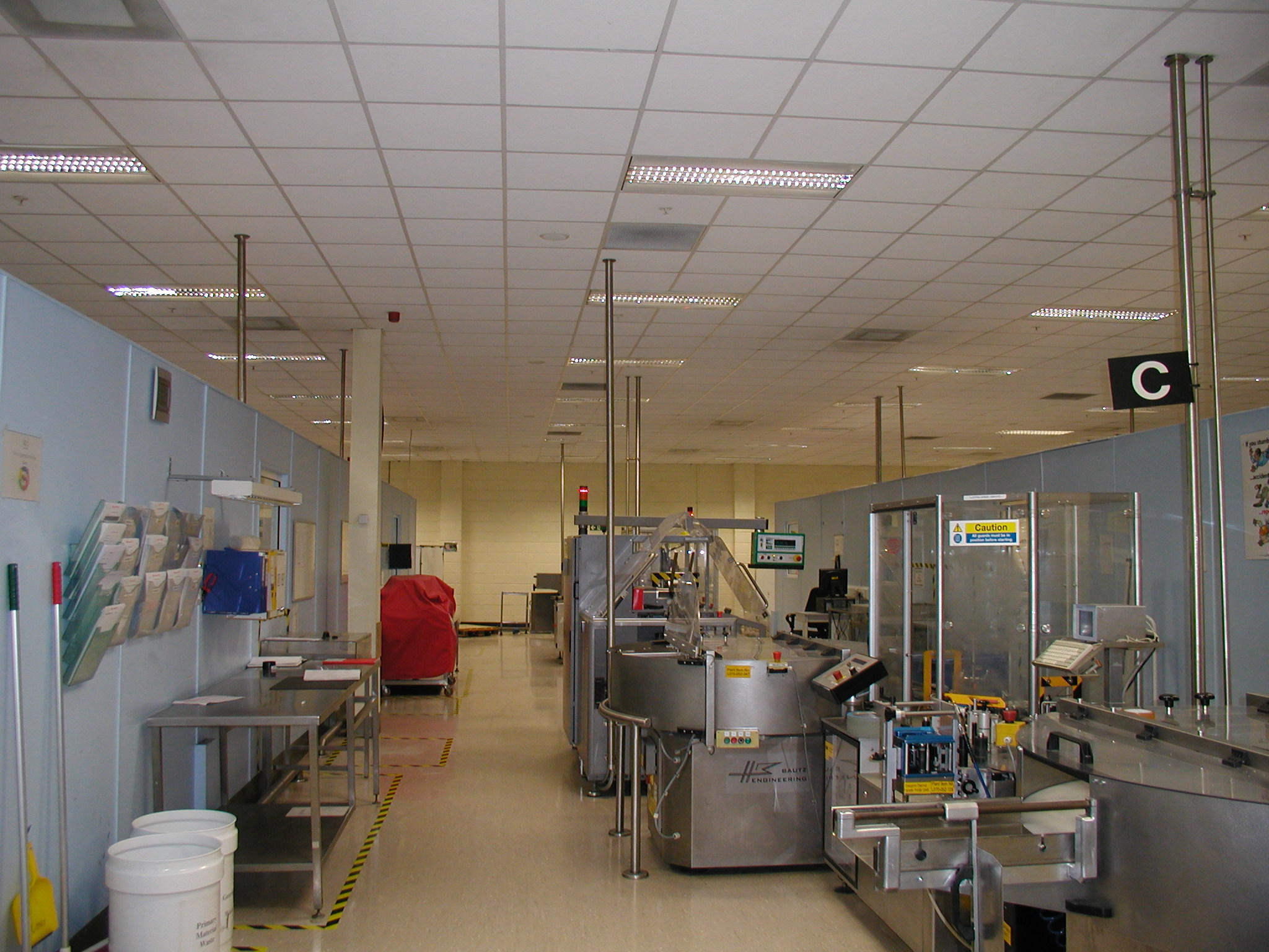 Packaging Area GE - ecos occupancy sensors