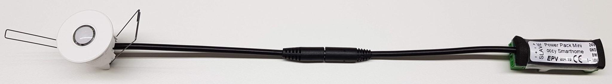Präsenzmelder occy smarthome 24V sensorkopf und mini Powerpack