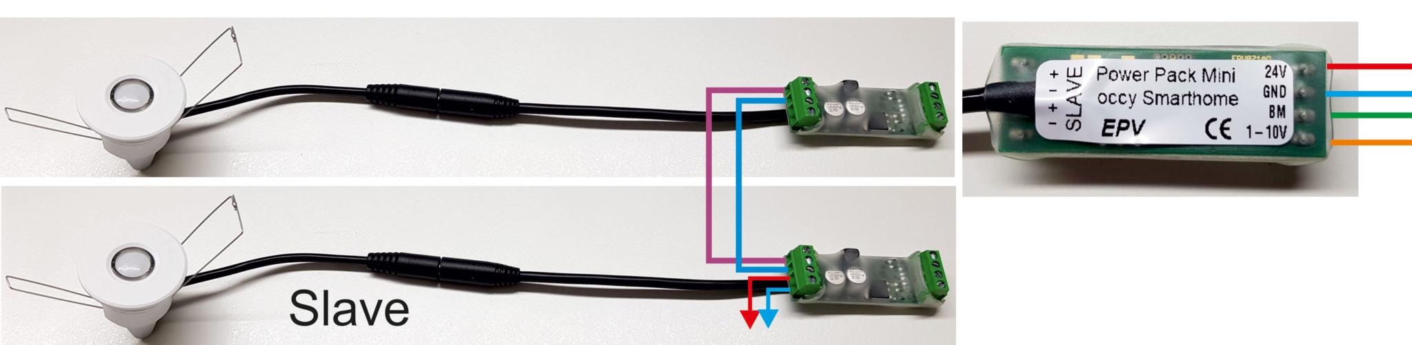 occy elektrischer Anschluss an Smarthome Anlage und Flächenerweiterung mit Slave
