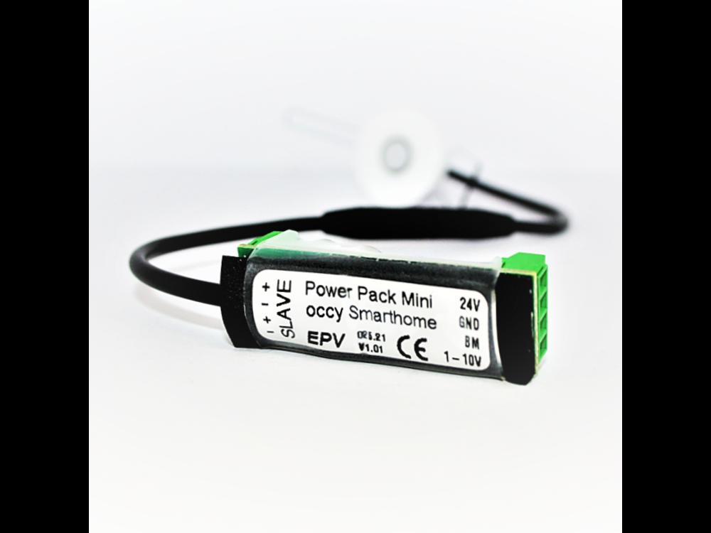 EPV occy®: ultra-small 24V design PIR occupancy presence sensor for smart home systems Loxone, Homematic, Comexio, WAGO etc.