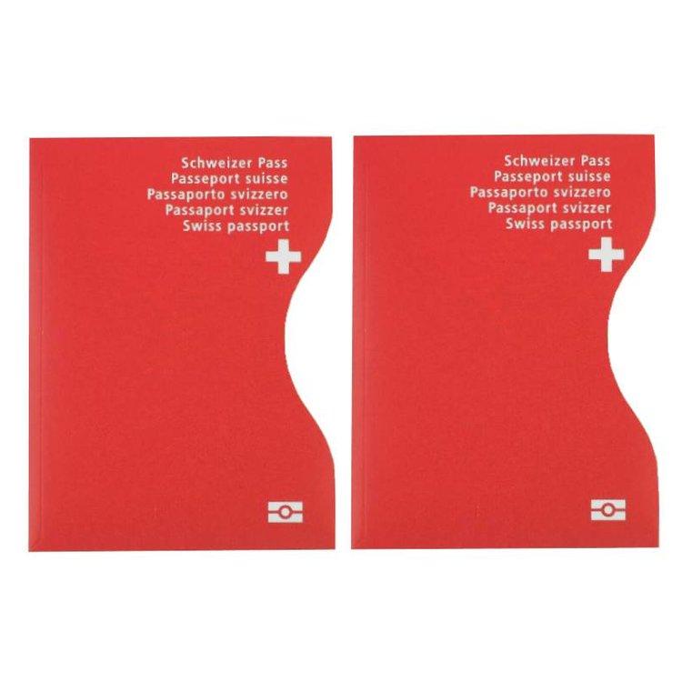 RFID-Schutzhüllen für Reisepässe   Schweiz   2er-Set