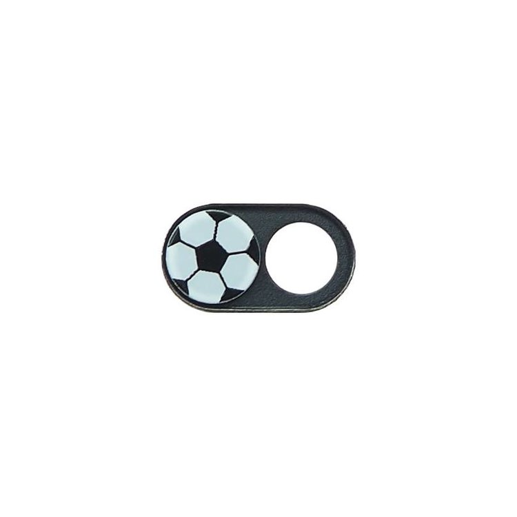 Webcam Covers | Metal Black | Soccer Ball | Set of 2