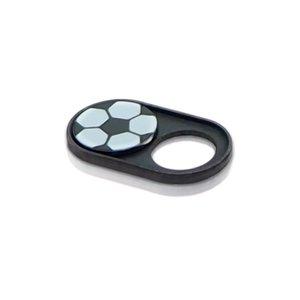 Webcam Abdeckungen | Metall schwarz | Fussball | 2er-Set