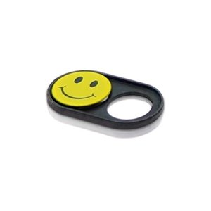 Webcam Abdeckungen | Metall schwarz | Smiley | 2er-Set