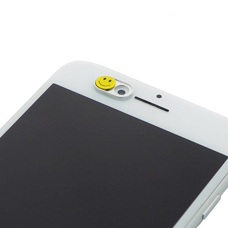 Webcam Abdeckungen | Metall silber | Smiley | 2er-Set