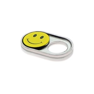 Webcam Abdeckungen | Metall silber | Smiley | 2er-Set