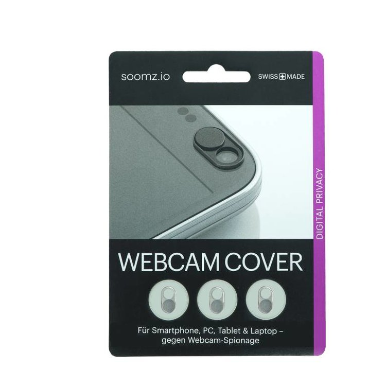 Webcam Covers | Metal silver | Set of 3