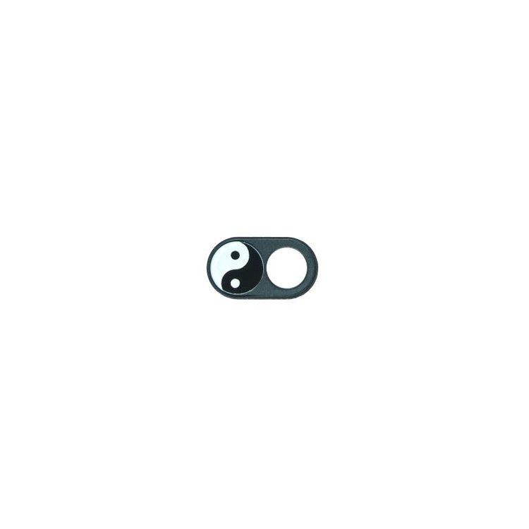 JETZT NOCH DÜNNER! Webcam Abdeckungen | Metall schwarz | Yin Yang | 2er-Set