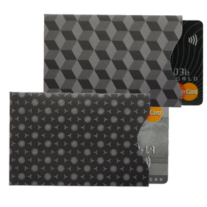 RFID Card Protection Sleeves | Black | Upright | Set of 2