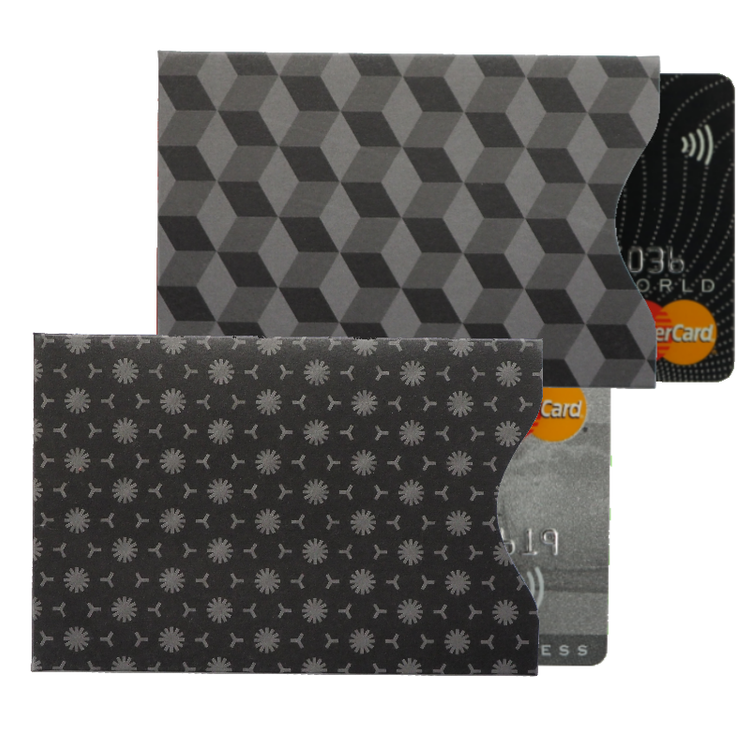 RFID Card Protection Sleeves | Black | Set of 2