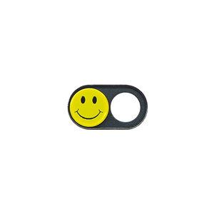 JETZT NOCH DÜNNER! Webcam Abdeckungen | Metall schwarz | Smiley | 2er-Set
