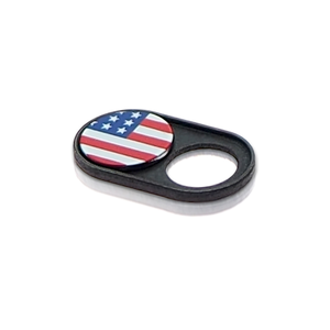 Webcam Covers | Metal Black | US Flag | Set of 2