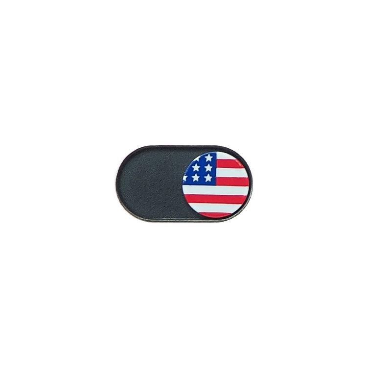 Webcam Covers | Metal Black | US Flag | Set of 2