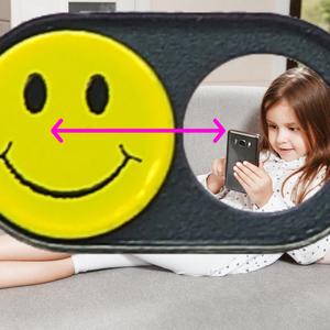 Webcam Abdeckungen | Metall schwarz | Smiley | 2er-Set