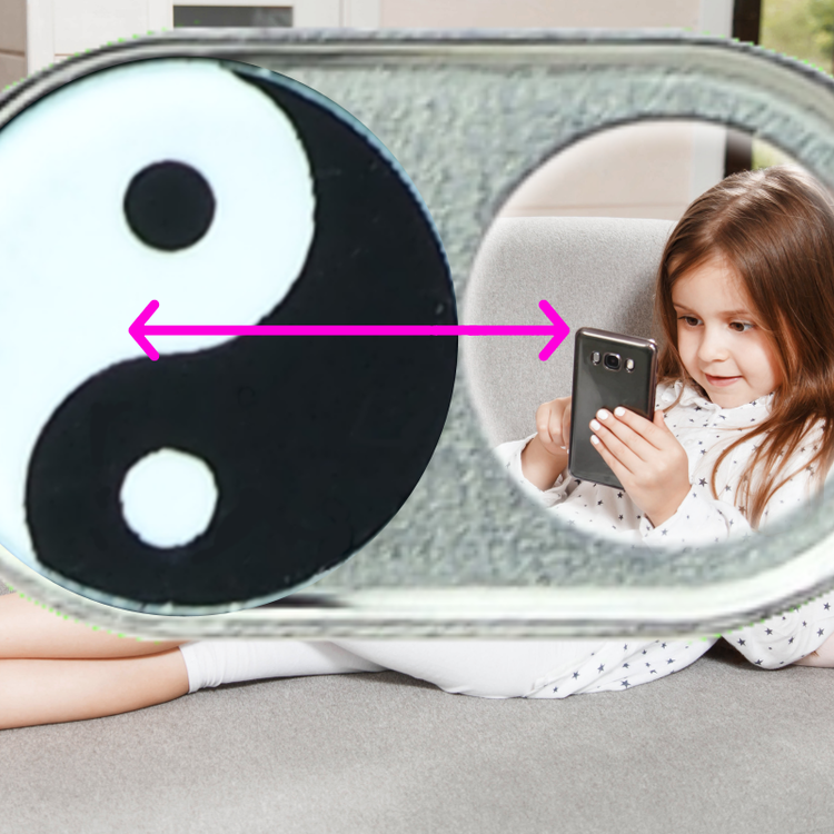NOW EVEN THINNER! Webcam Covers | Metal black | Yin Yang | Set of 2
