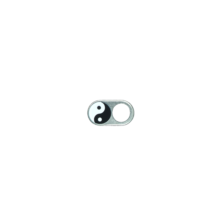 JETZT NOCH DÜNNER! Webcam Abdeckungen | Metall silber | Yin Yang | 2er-Set
