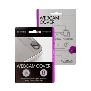 NOW EVEN THINNER! Webcam Covers | Metal black | Blink | Set of 2