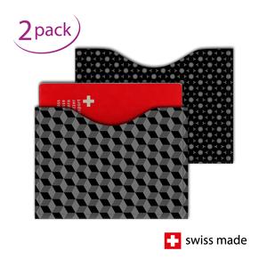 RFID-Schutzhüllen für Reisepässe| Karo Dunkel | 2er-Set