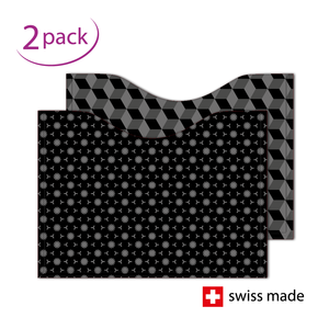 RFID-Schutzhüllen für Reisepässe  Karo Dunkel   2er-Set