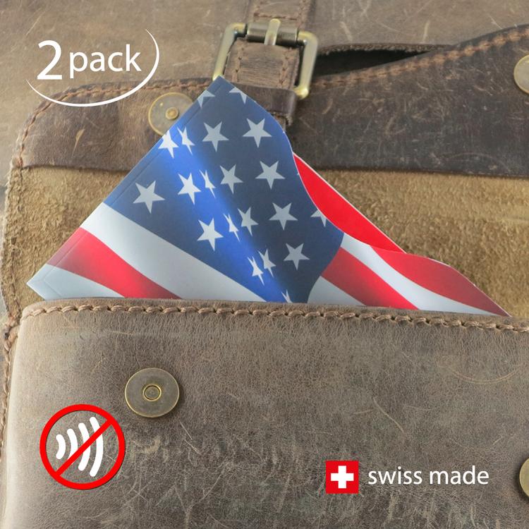 RFID-Schutzhüllen für Reisepässe | USA | 2er-Set