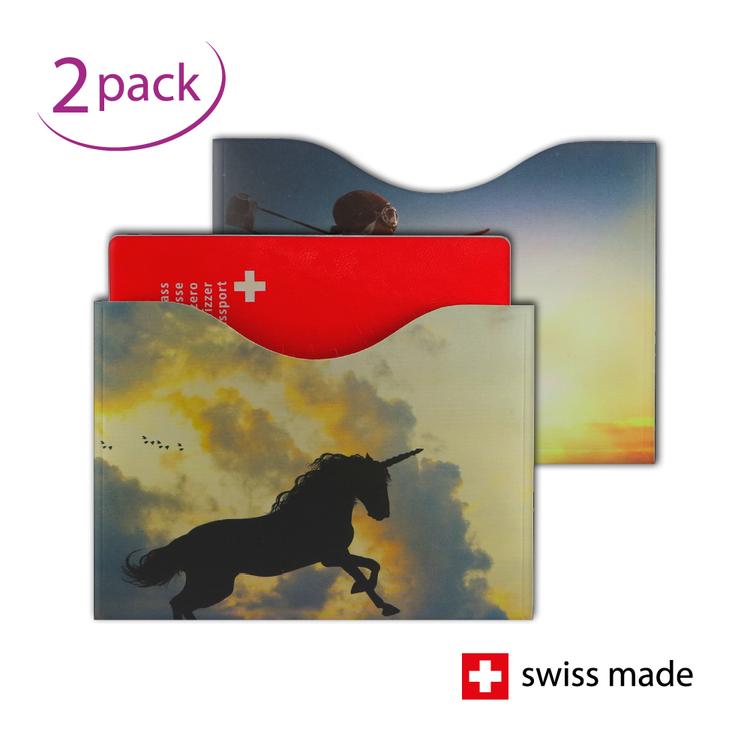 RFID Passport Protection Sleeves | Fantasy | Set of 2