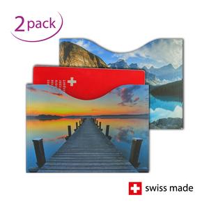 RFID-Schutzhüllen für Reisepässe | Horizont | 2er-Set