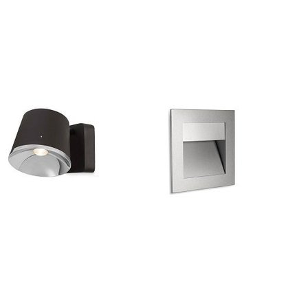 Wall lamps are surface or recessed with LED