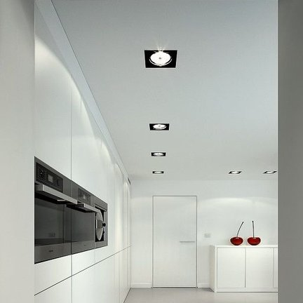 Trimless LED lighting for ceiling and wall