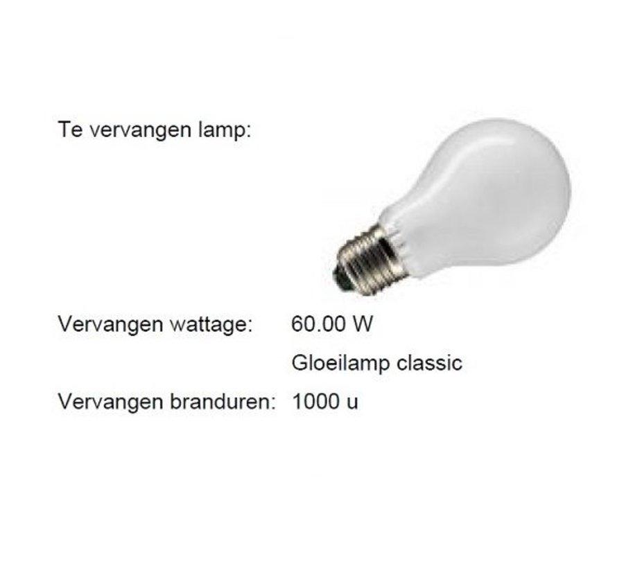 LED Classic MM08122 9,5W (60W) Dim To Warm 1800-2700K E-27