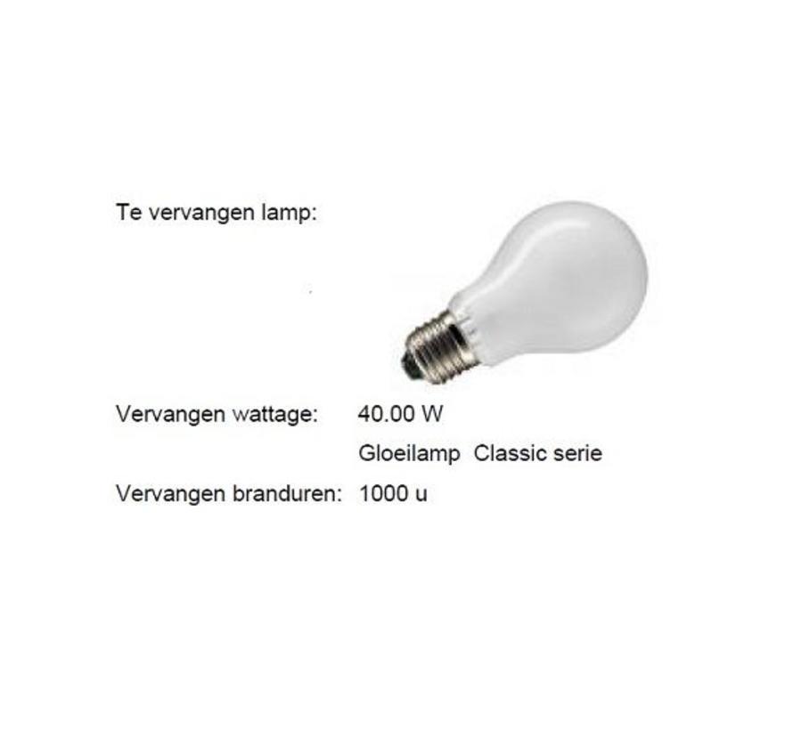 LED Classic MM08043 6W (40W) Dim To Warm 1800-2700K E-27