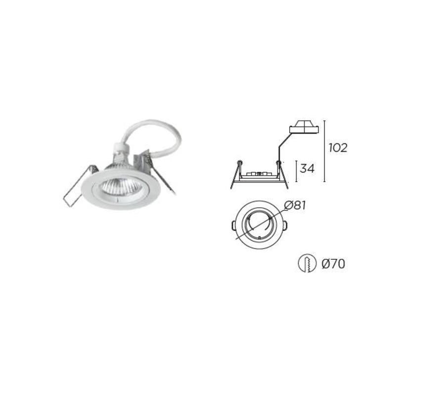 Trimium mini vaste inbouwspot GU5.3/GU10
