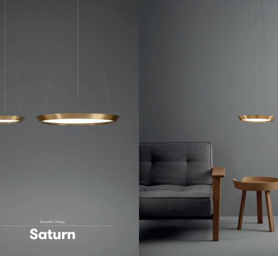 Saturn dimbare led hanglamp in Ø300 of Ø600mm  2700K koper