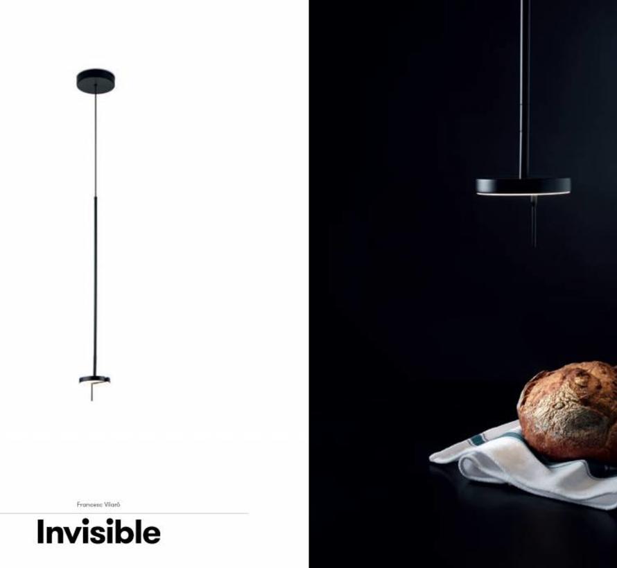 Invisible Led pendant 9Watt-2700-3000K black 730-2500mm