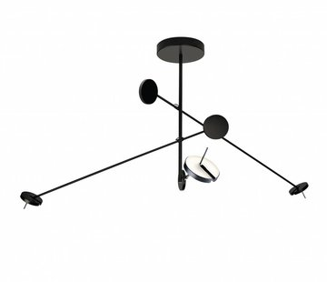 Grok Invisible led 3-voudige hanglamp 27W-3000K zwart