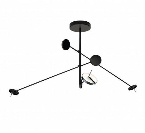Grok Invisble led 3-voudige hanglamp 27W-3000K in zwart dimbaar