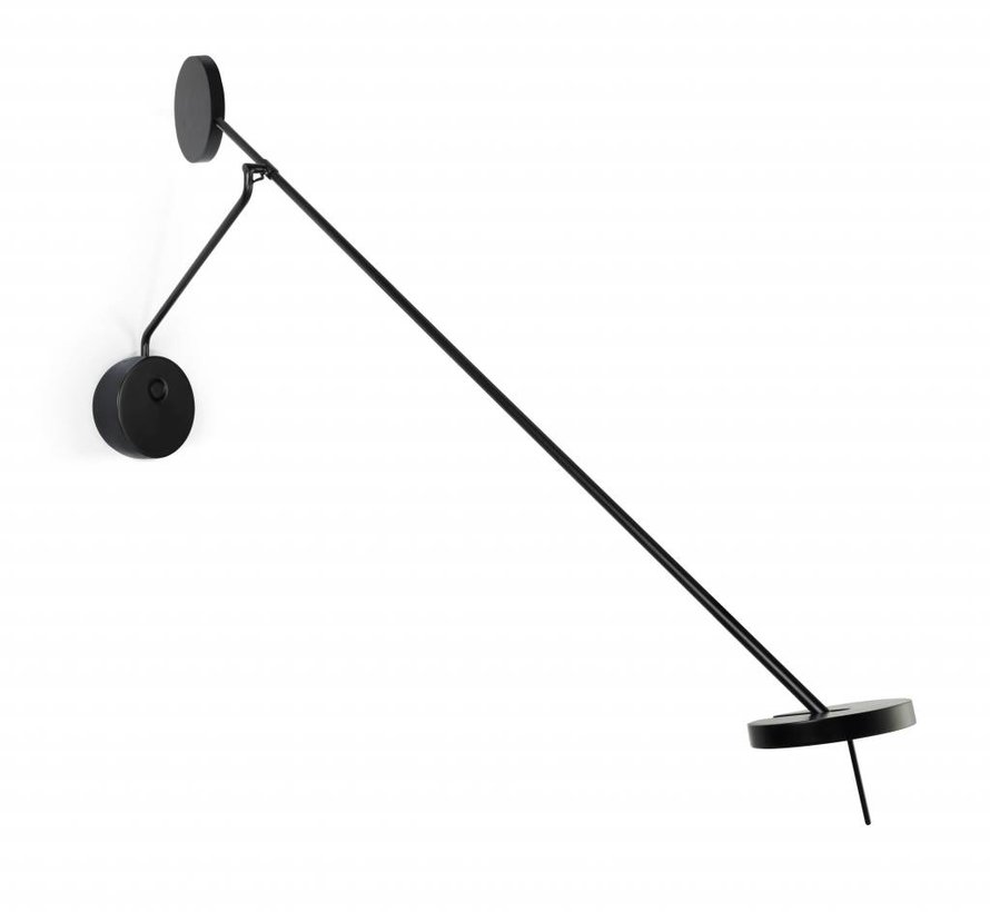 Invisible adjustible wall lamp 9Watt black in 2700 of 3000K