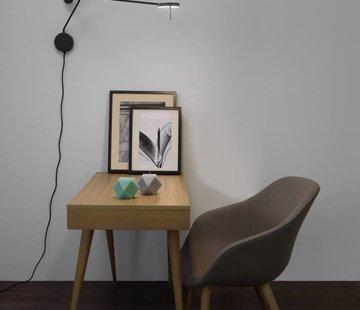 Grok Invisible adjustible wall lamp 9Watt black
