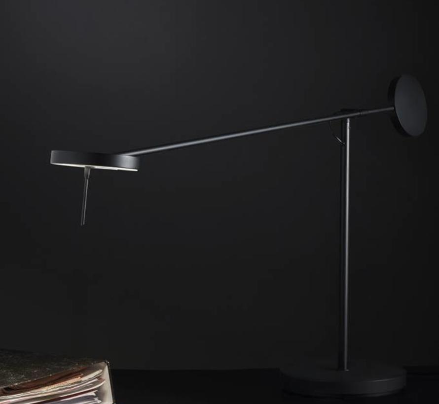 Invisible Led table lamp 9Watt black touch dim