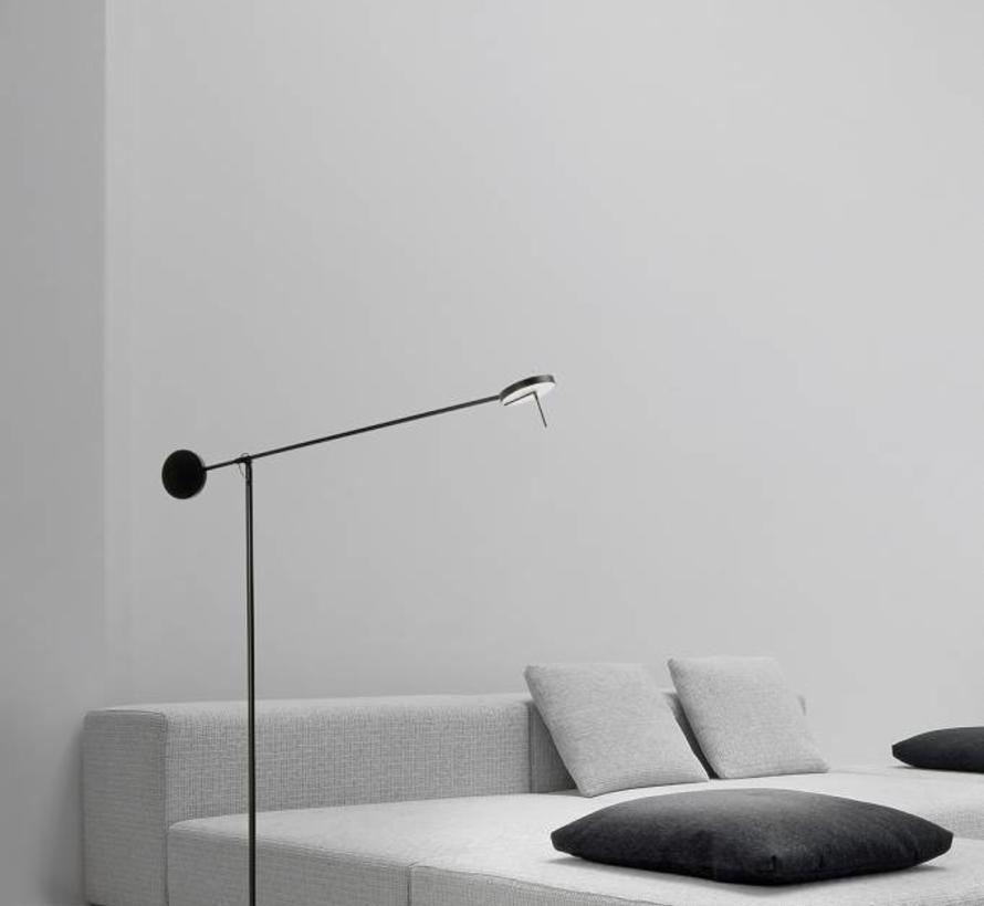 Invisible Led floor lamp black 9Watt 1650mm in 2700 - 3000K