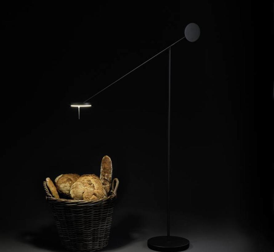 Invisible Led vloerlamp zwart 9Watt-3000K