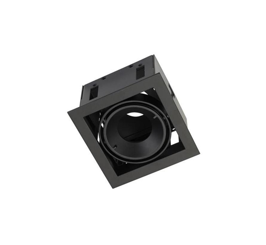 Multidir Evo S trim recessed spot for 50mm LED in white, black or alu gray