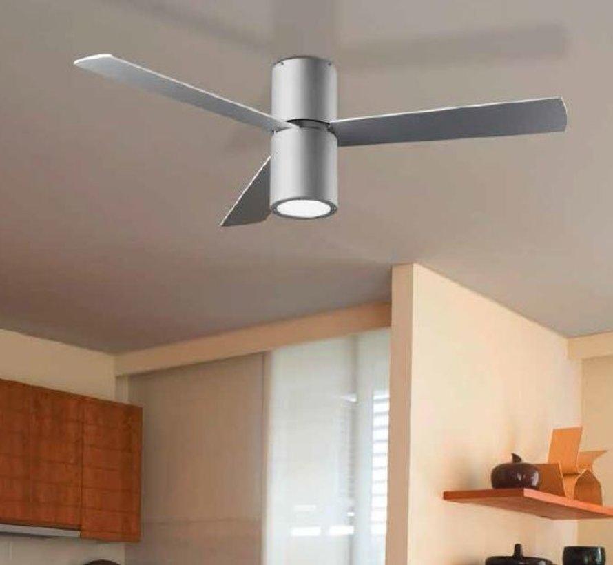 Formentera plafond ventilator alu grijs met  verlichting