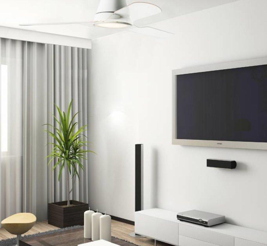 Tiga plafond ventilator wit met  led verlichting