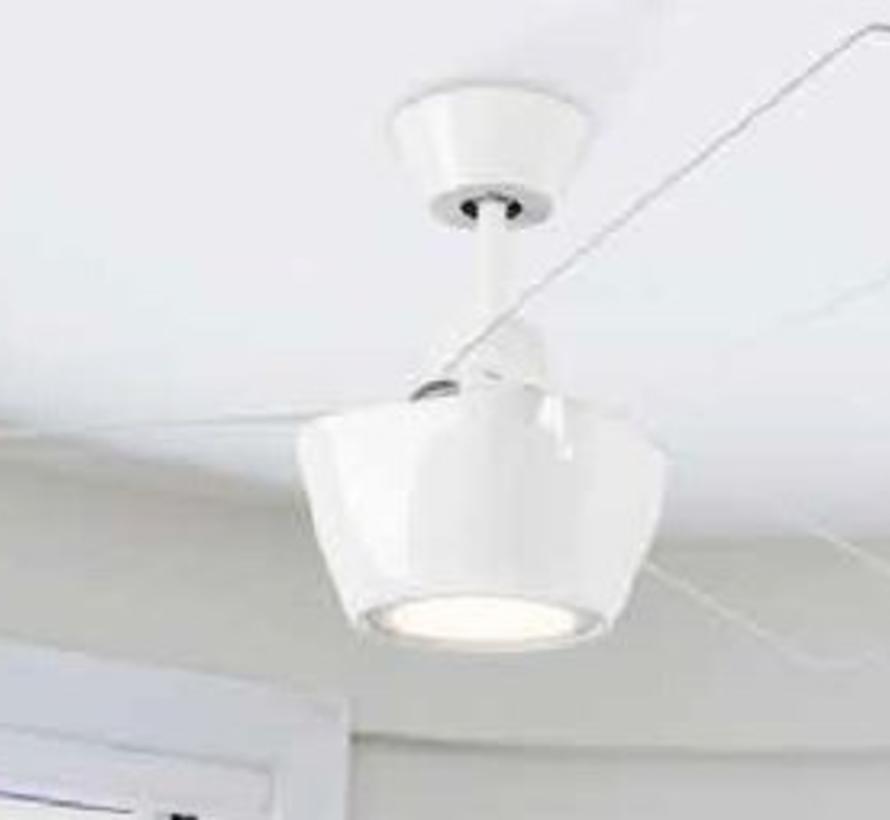 Ceos plafond ventilator wit met  led verlichting