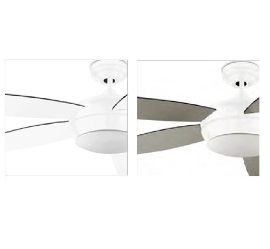 Samal plafond ventilator wit met afstandsbediening en verlichting