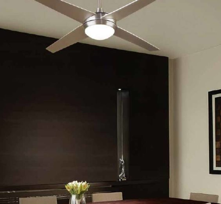 Hawaii ceiling fan satin nickel with lighting